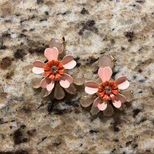 Flower earrings blush orange